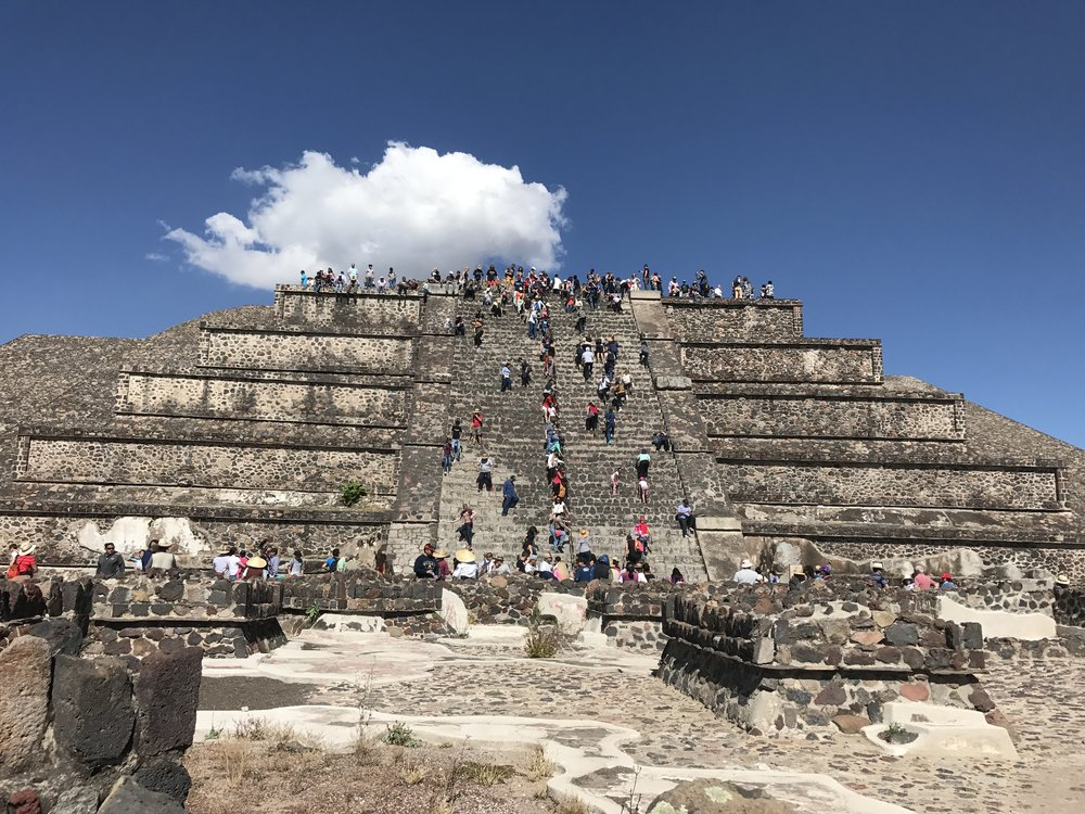 Pyramid of the Moon. Teotihuacan, Mexico.