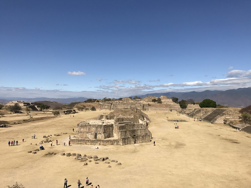From the pyramid of Monte Alban, Oaxaca.