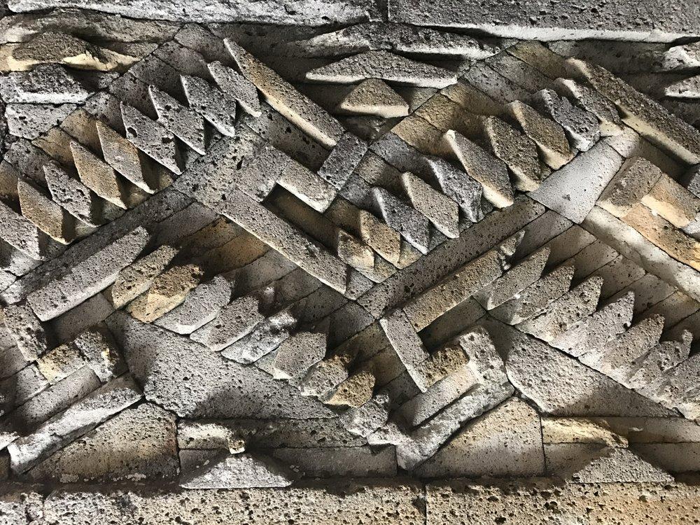 Beautiful geometric designs at Mitla.