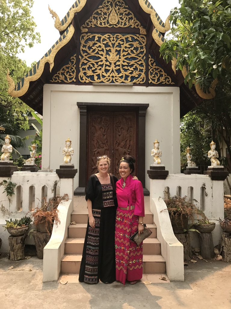 Sarisa and I at the Mangrai Temple in Chiang Mai, Thailand.