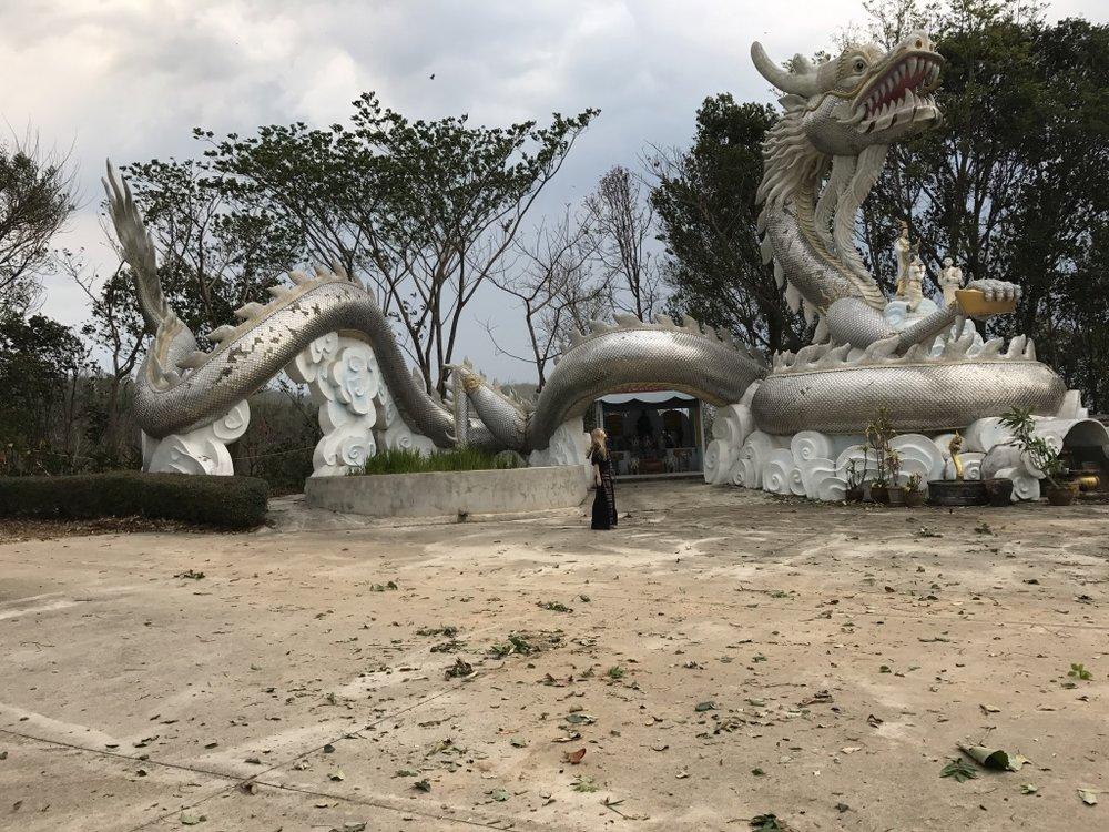 Silver Dragon. Wat Thaton, Thailand.