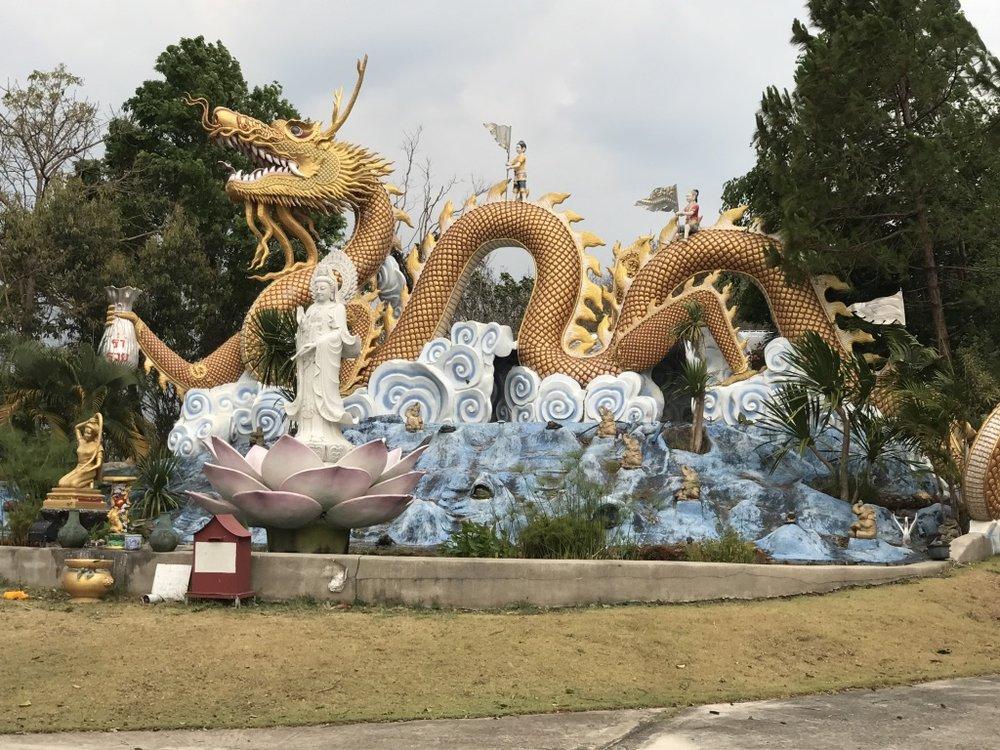 Gold Dragon. Wat Thaton, Thailand.