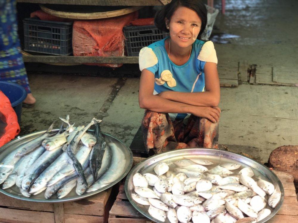 Thandwe Market.Rhakine State, Burma.