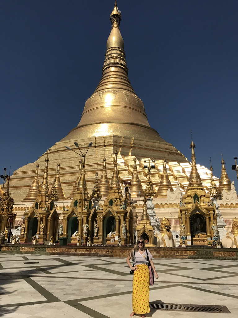 So hot at the Shwedagon Pagoda. More photos below.