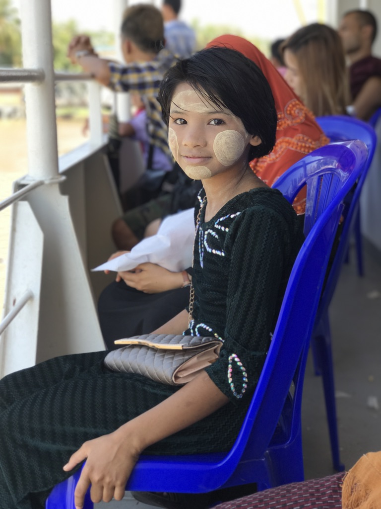 This little girl in her thanaka face paint stole my heart on the ferry from Dala back to Yangon.