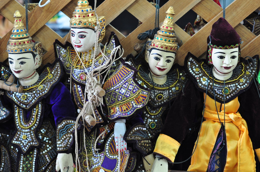 Traditional Burmese marionettes.