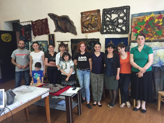 Edena workshop. Liliana is second from the right.