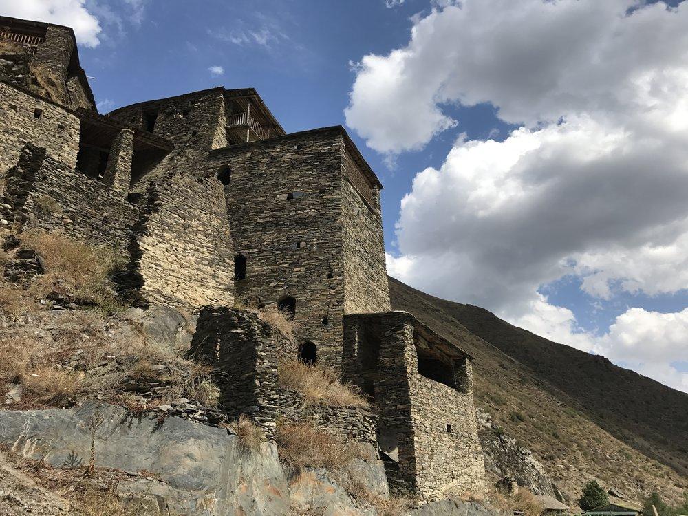 The fortressed city of Shatili, Khevsureti.
