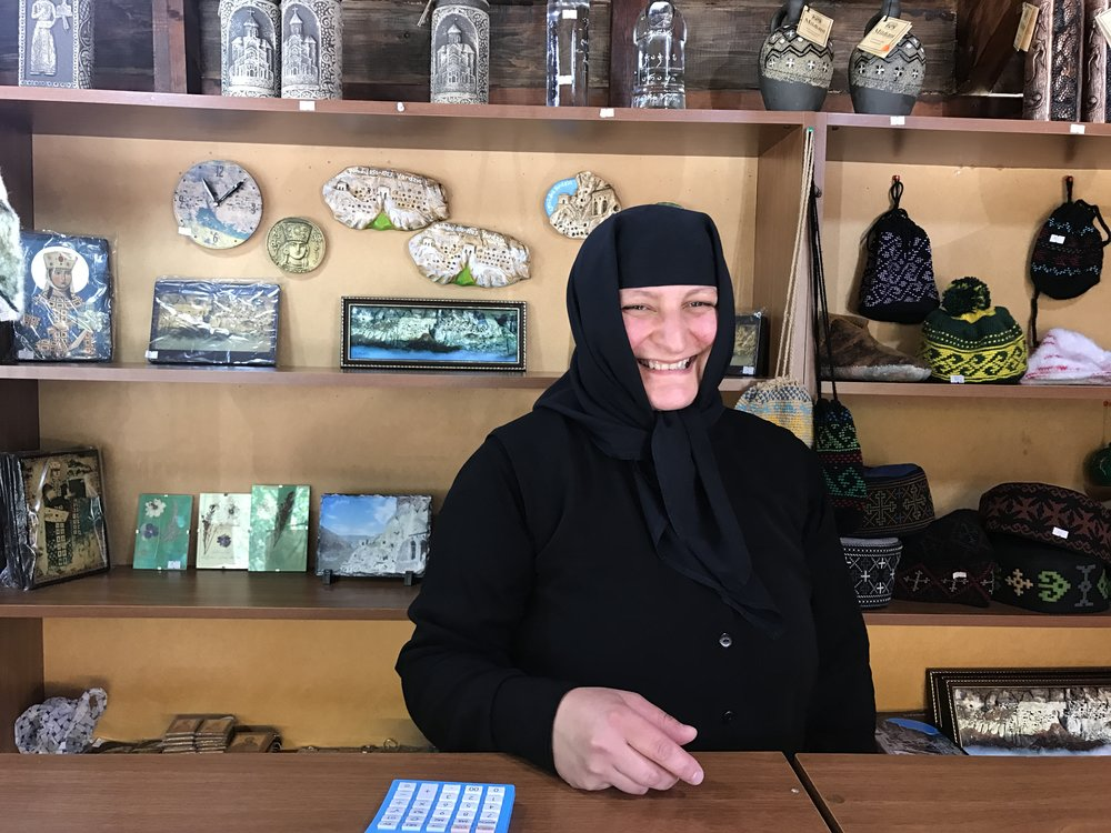 One of the embroidering nuns of Vardzia!