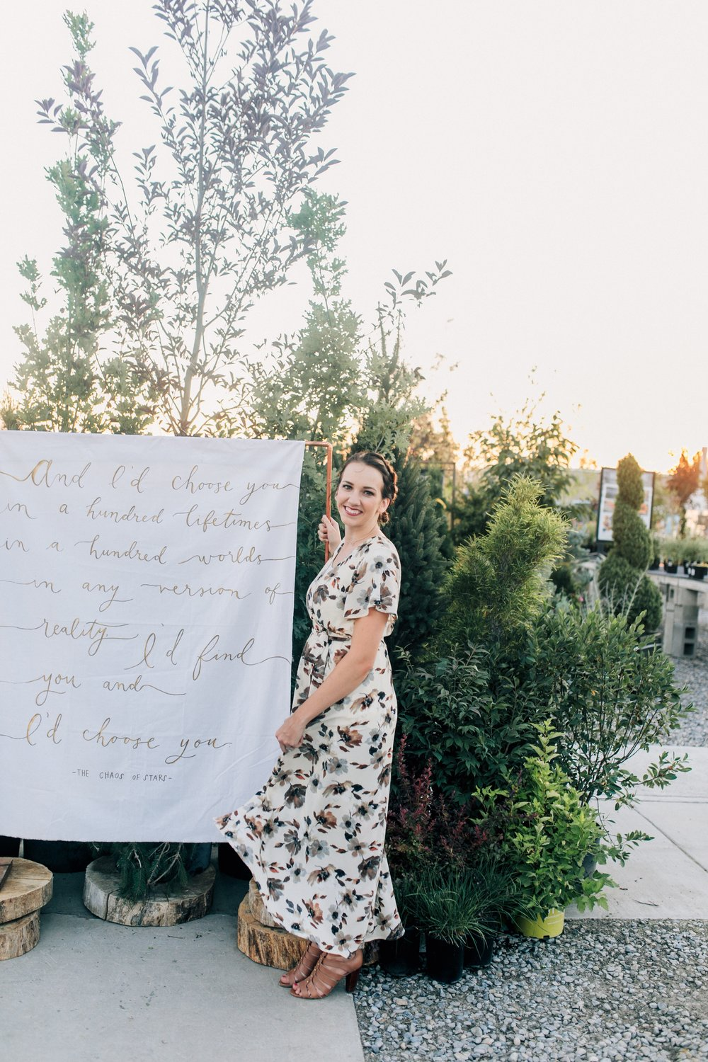 calligraphy backdrop Rental -