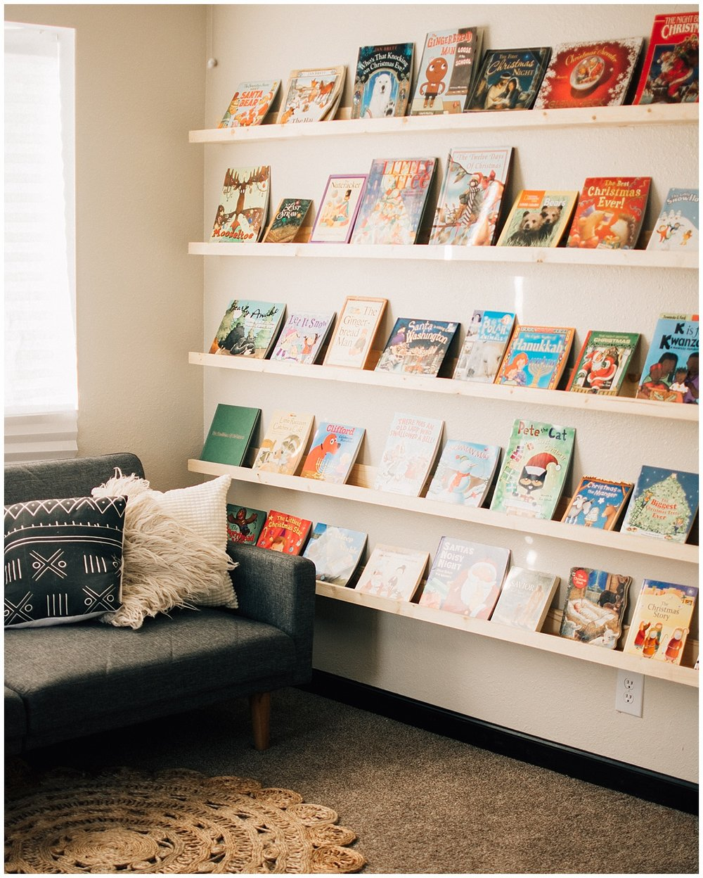 book wall diy