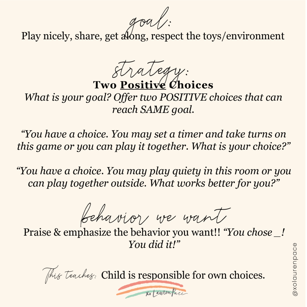 "If a conflict is happening. Try positive support strategies first. Two choices is always a good go to.   Use anything that you talked about while prepping for this. Like how me and Charlie go over ""if you want a turn, what do you say?"" ""turn"" Older kids can practice full sentences and ask for what they need ... so now in this situation where they need to take turns, I prompt what he's already been learning about ""turn."" And then I guide him through giving the other child a turn too."