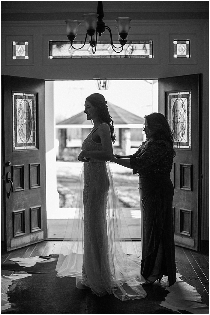 Mother and Bride before Battle Mountain Farms Wedding Ceremony