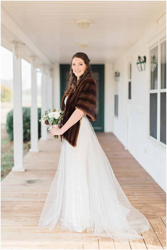 Nashville Winter Bridal Portraits Battle Mountain Farms