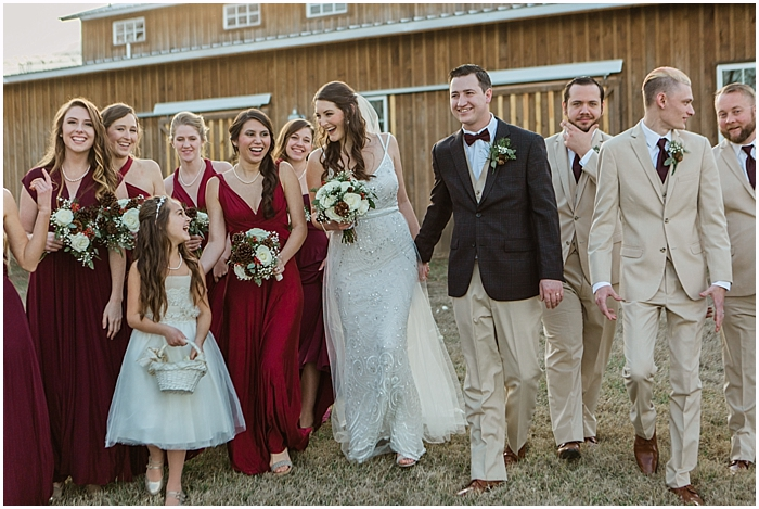 Winter Wedding Party Celebrations Nashville TN