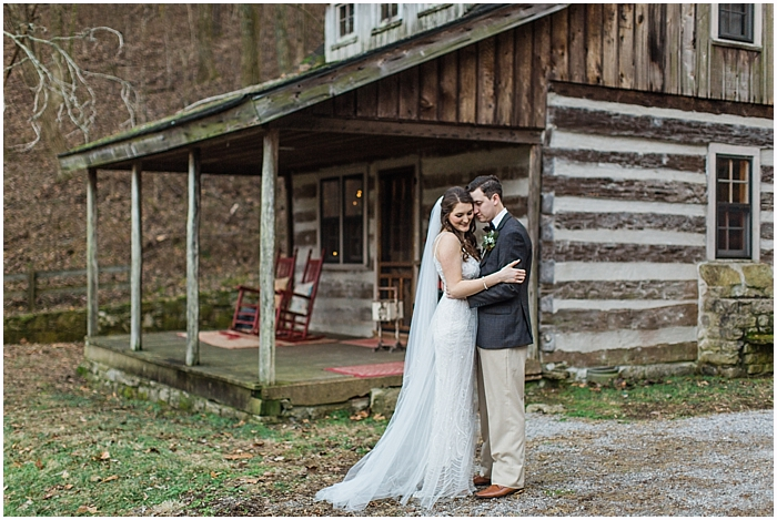 Country Winter Wedding Bride and Groom Portrait Nashville TN