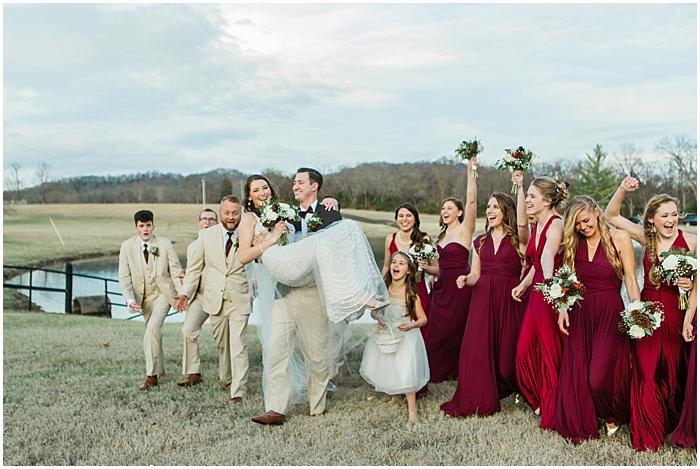 Fun winter bridal party portraits Nahville TN Wedding Photographer