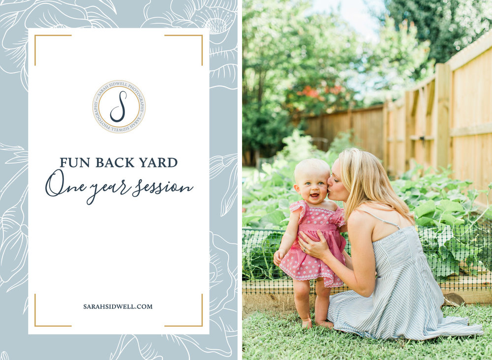 Nashville Parents choose to have their daughter's one year 1st birthday photo session in their Franklin Backyard playing on swingsets and in their vegetabel garden.jpg