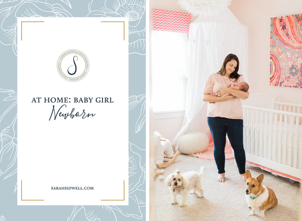 New mom and dad plan their newborn session with their 7 day old baby girl at their home with their dogs and cats with top Nashville Photographer Sarah Sidwell who is based out of Franklin their session captures their.jpg