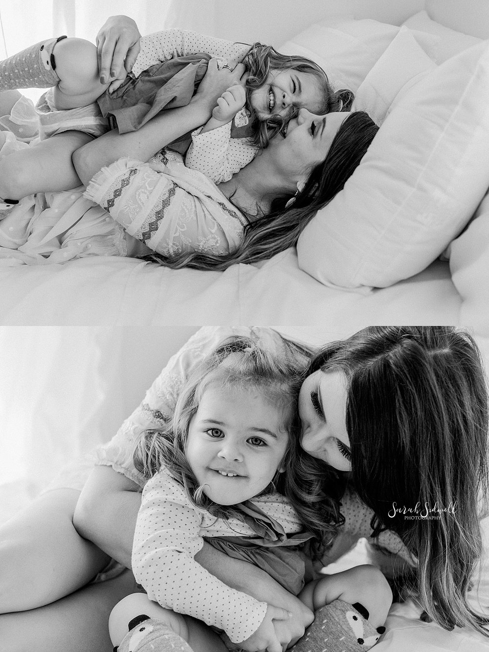 A mama snuggles her girl  | Sarah Sidwell Photography | Newborn Love