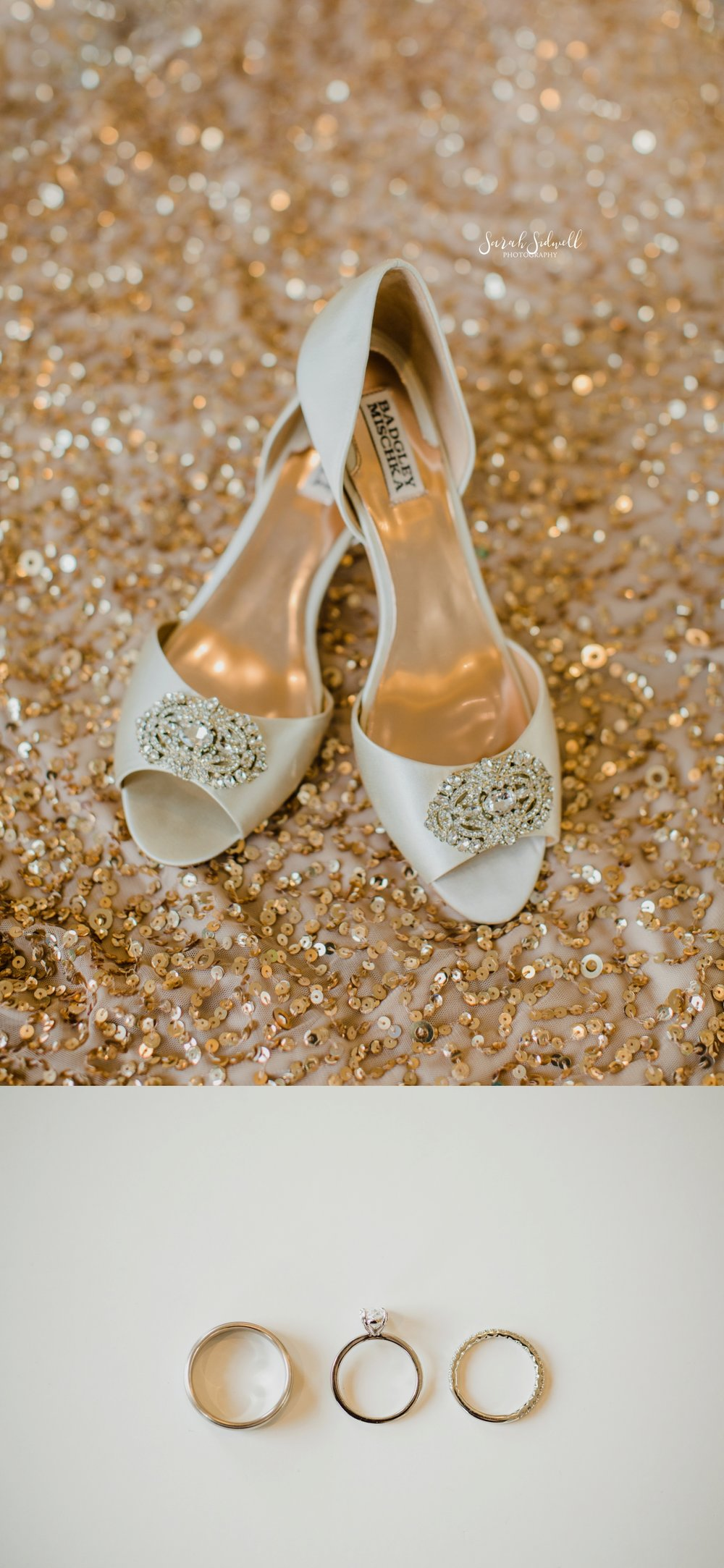 Wedding shoes are displayed | Sarah Sidwell Photography | The Bell Tower