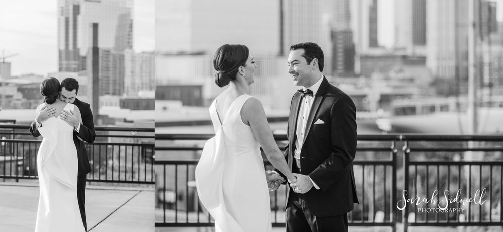 A man dances with his bride on a roof top | Sarah Sidwell Photography | The Bell Tower