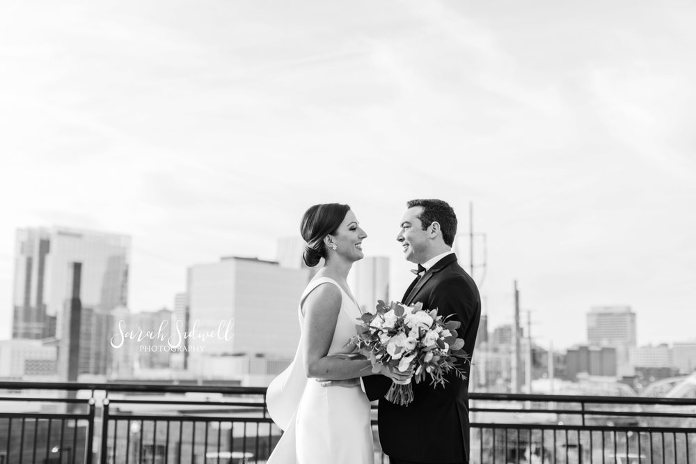 A man looks into his bride's eyes | Sarah Sidwell Photography | The Bell Tower