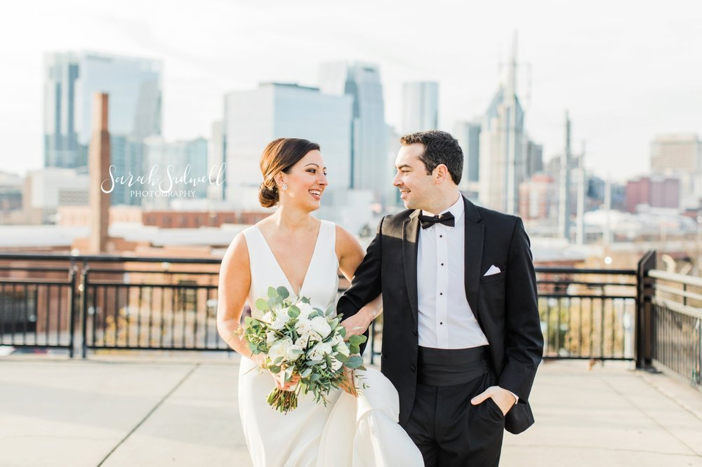 A woman looks into her groom's eyes | Sarah Sidwell Photography | The Bell Tower