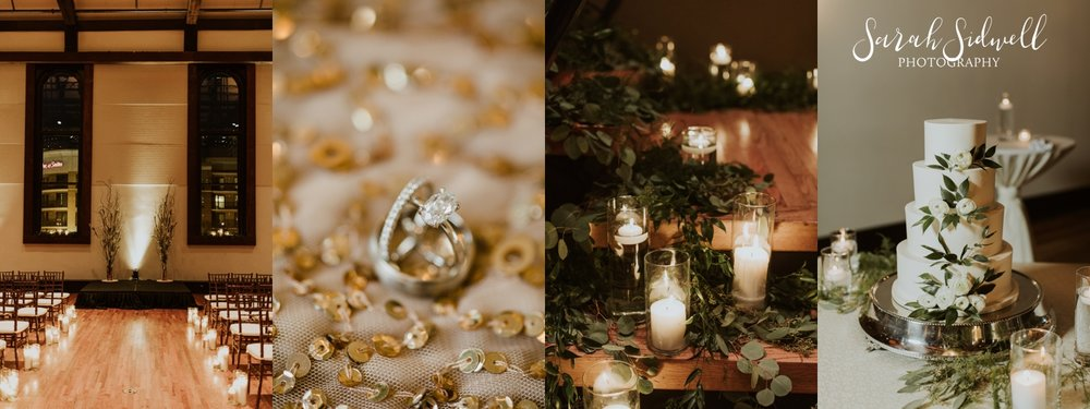 A venue is decorated for a wedding | Sarah Sidwell Photography | The Bell Tower