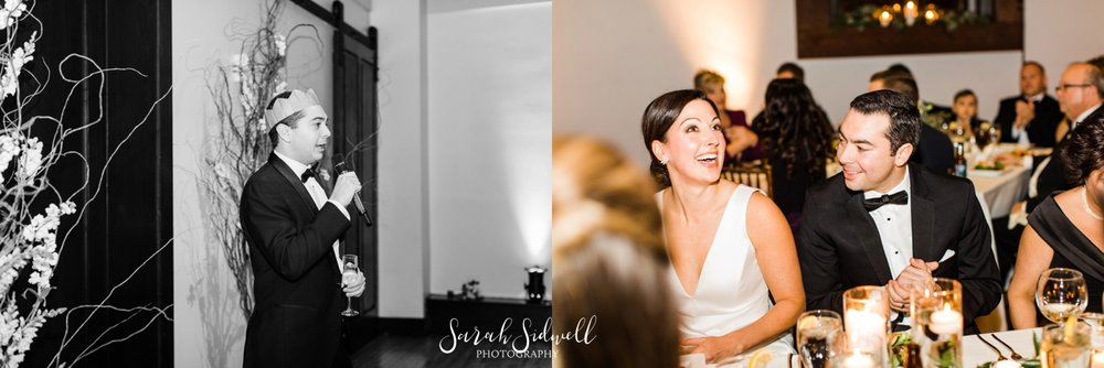 A bride and groom enjoy their wedding reception | Sarah Sidwell Photography | The Bell Tower