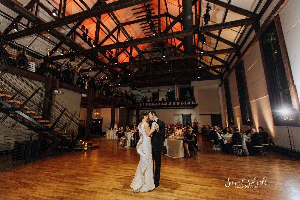 A bride and groom enjoy their first dance | Sarah Sidwell Photography | The Bell Tower