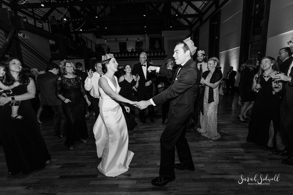 Two people dance at a wedding | Sarah Sidwell Photography | The Bell Tower