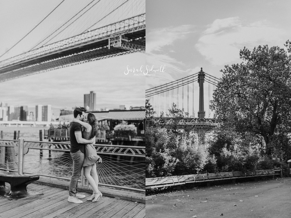 A couple take a walk on a bridge.  | Sarah Sidwell Photography | Nashville Engagement Photographer