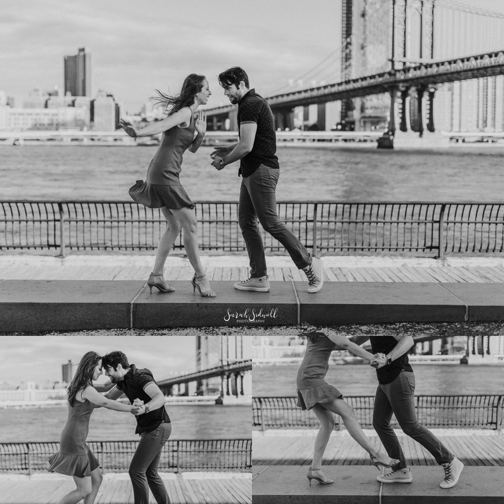 A couple dance together.  | Sarah Sidwell Photography | Nashville Engagement Photographer