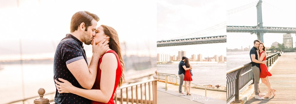 A man gives his fiance a tender kiss.  | Sarah Sidwell Photography | Nashville Engagement Photographer
