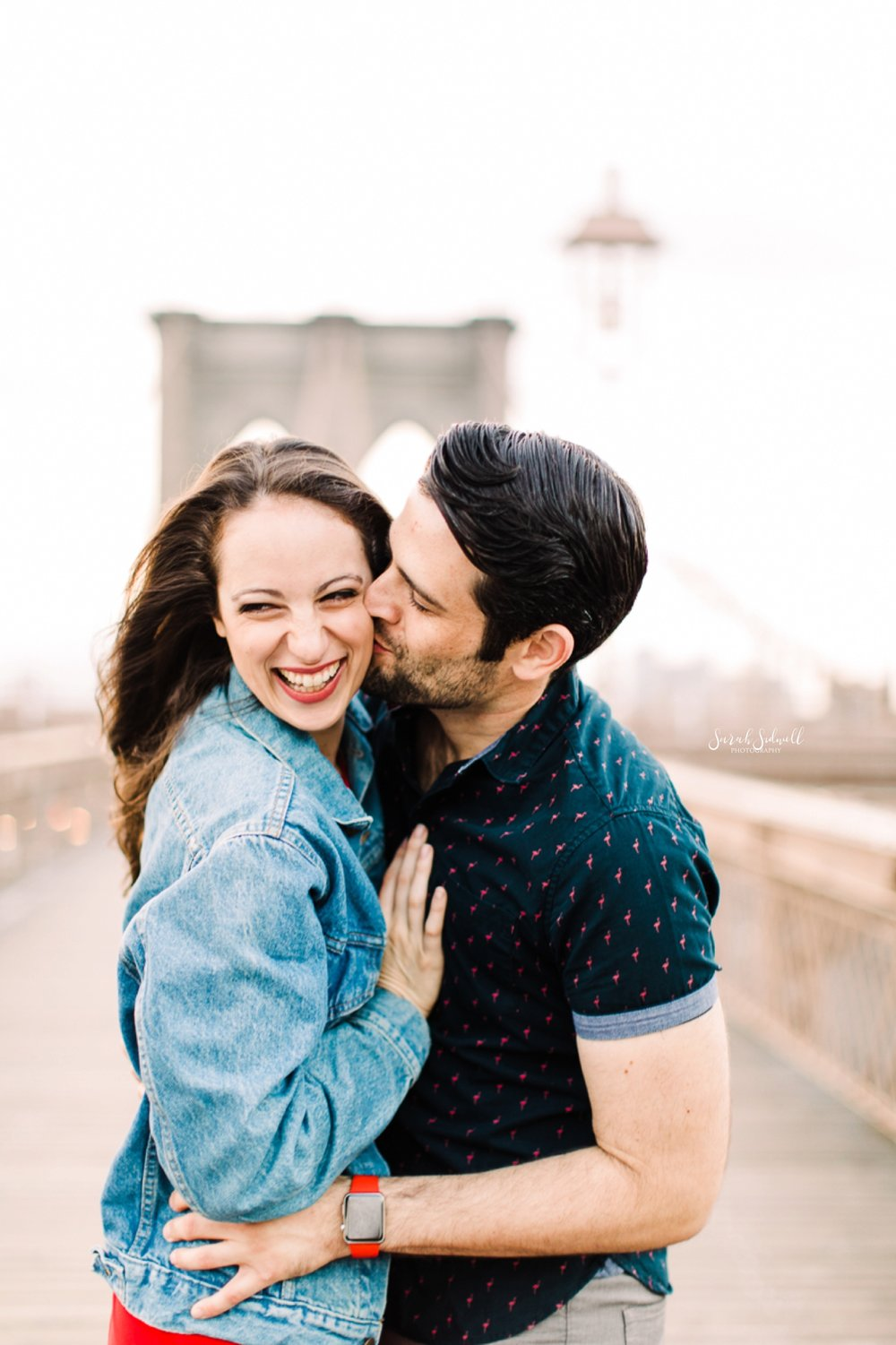 A woman laughs in delight.  | Sarah Sidwell Photography | Nashville Engagement Photographer