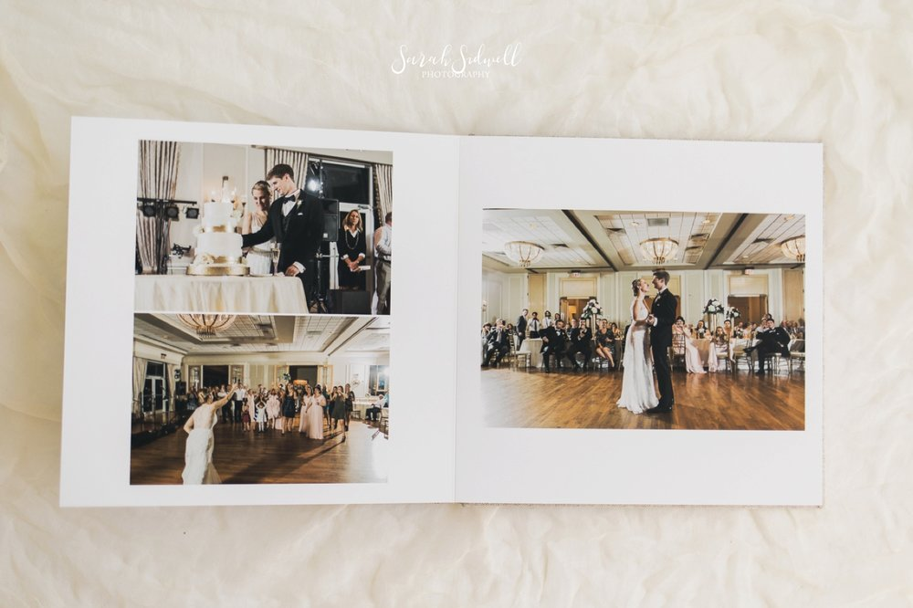A Nashville photographer shows the wedding albums she offers.