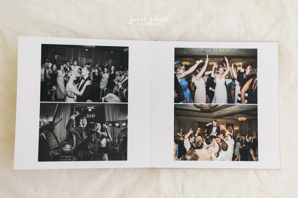 A wedding photo album is shown for availability.