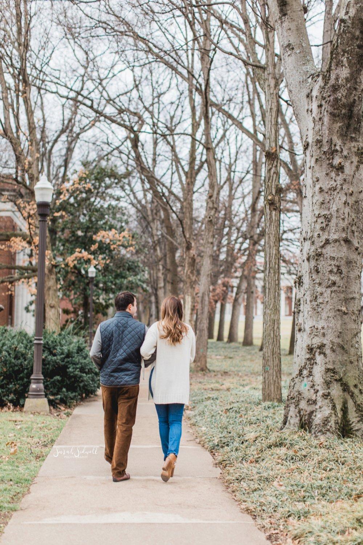 A couple take a walk.