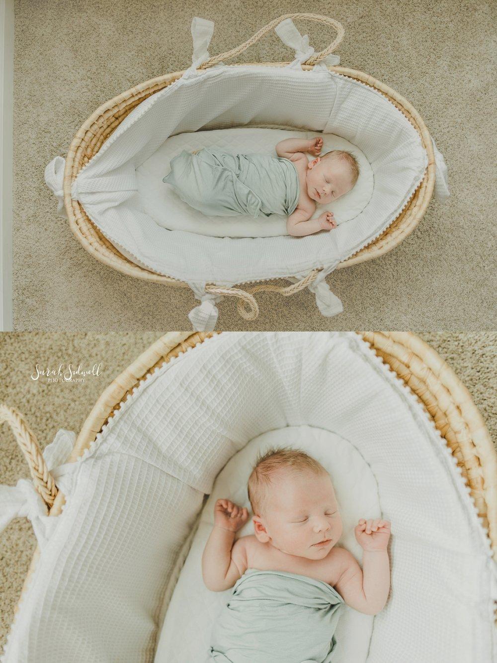 A baby sleeps