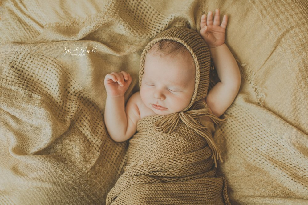 A newborn naps.