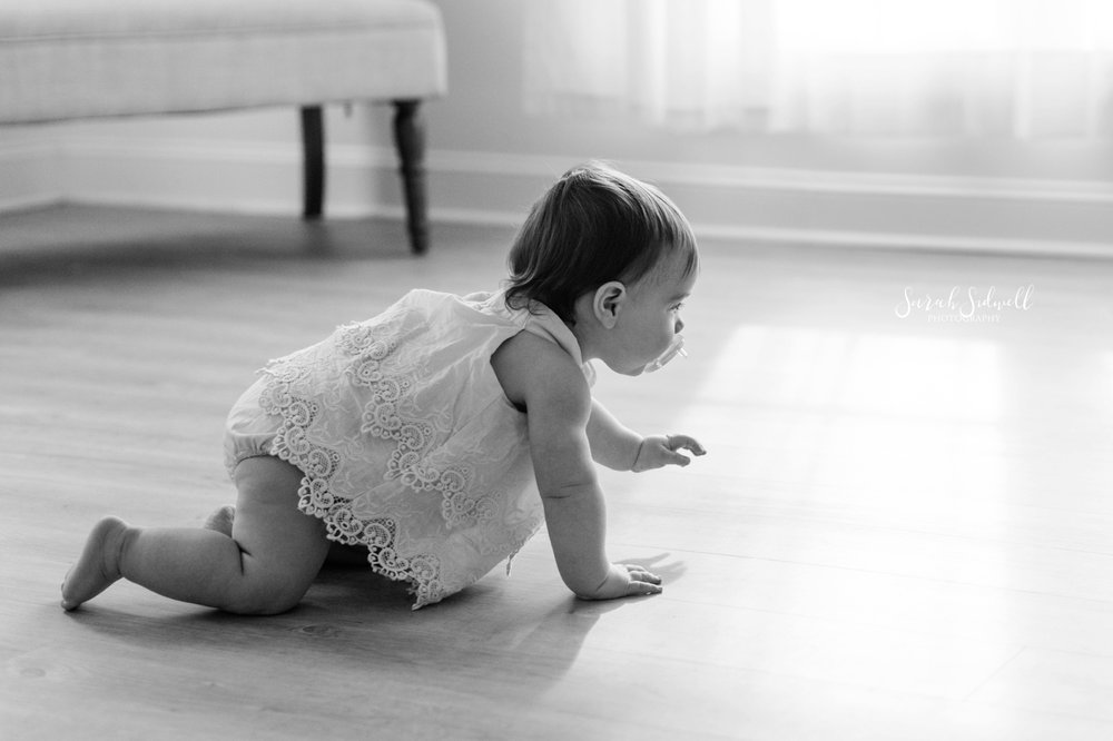 A baby is crawling | Nashville Baby Photographer