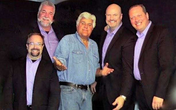 In 2015, THREE MEN and a TENOR was chosen by Jay Leno to be his opening act at the Valle Del Oro RV Resort, in a perfect music and comedy tag team that had the resort residents on their feet!