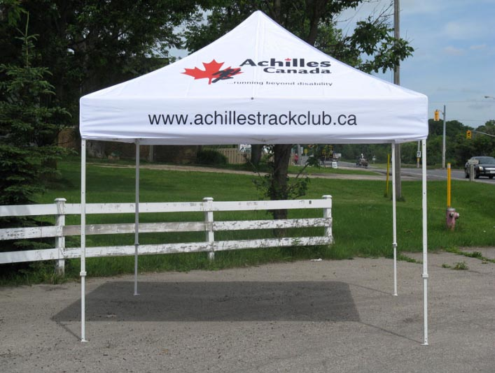 Achilles Track Club Tent