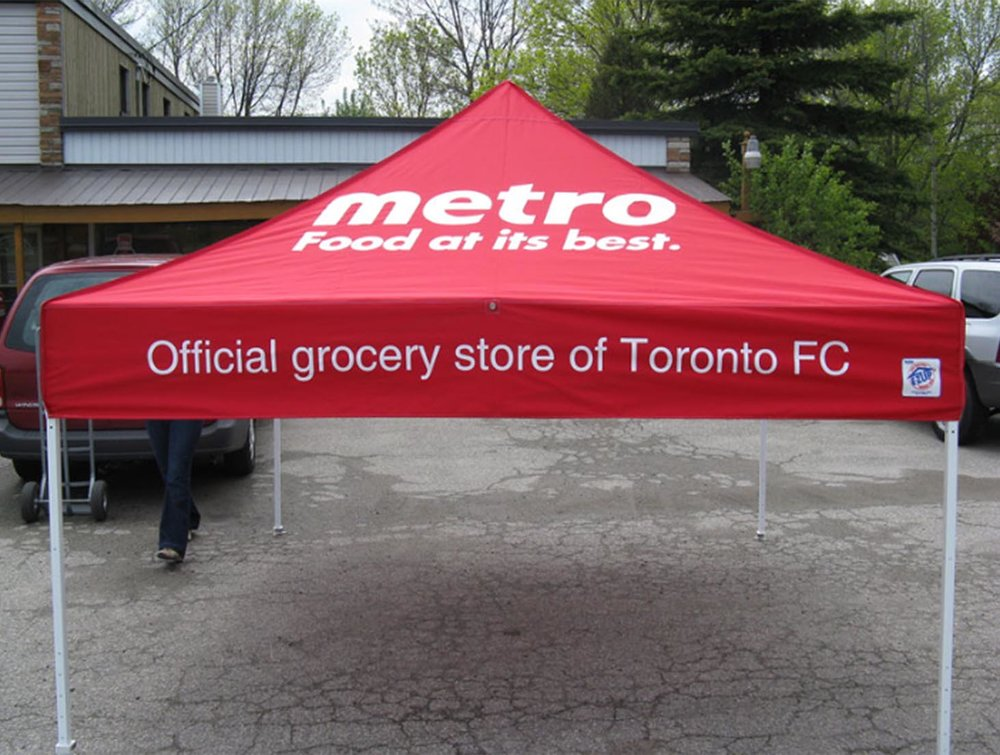 Metro and Toronto FC Tent