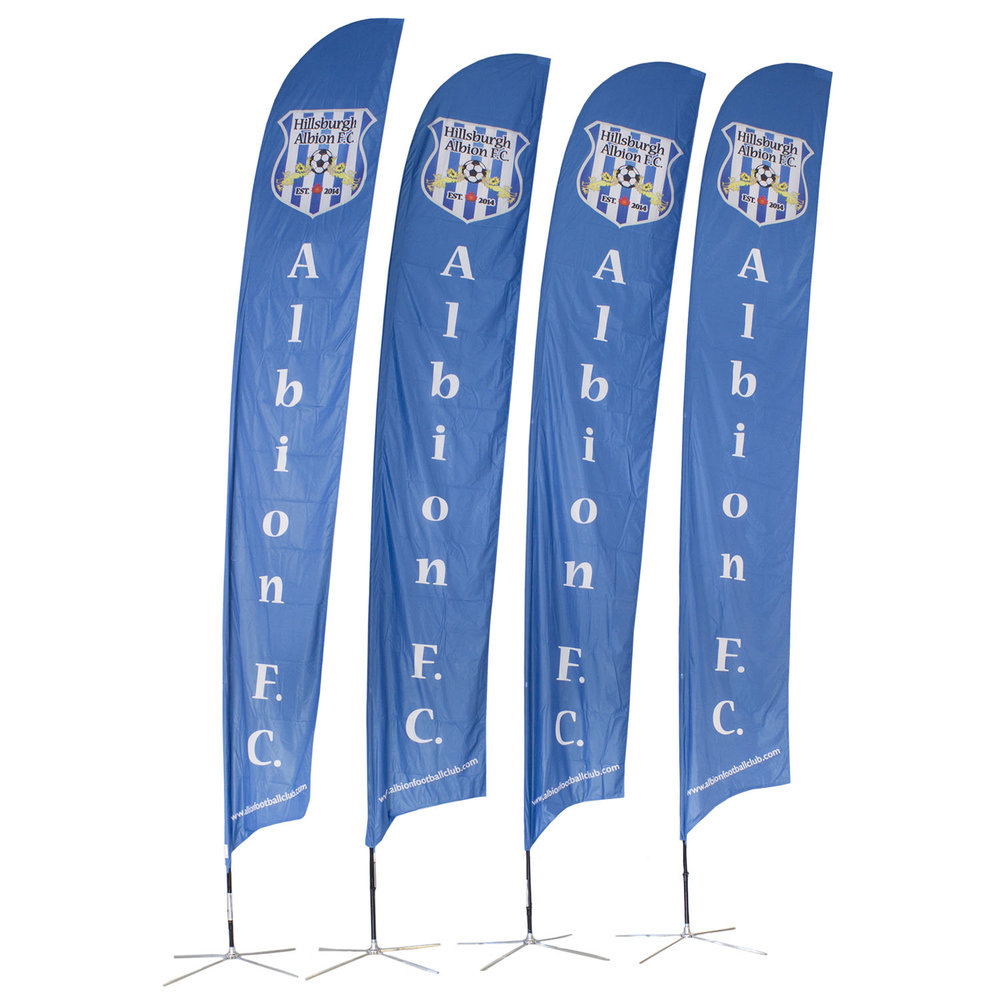 Albion FC Soft Signs Custom Flags