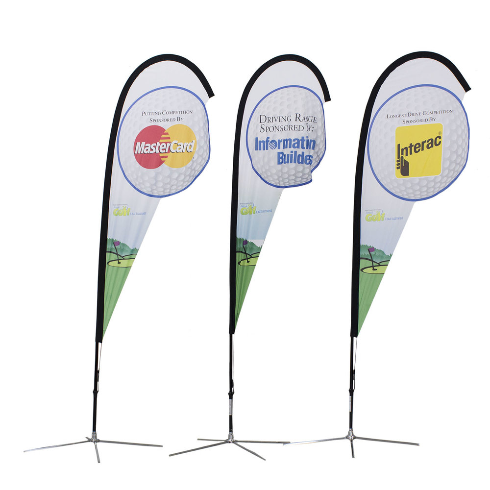 Master Card Interact Soft Signs Custom Flags