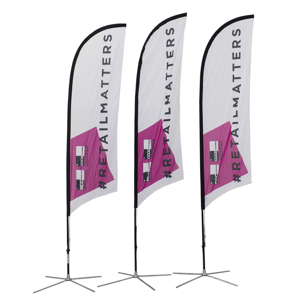 Retail Council Soft Signs Custom Flags