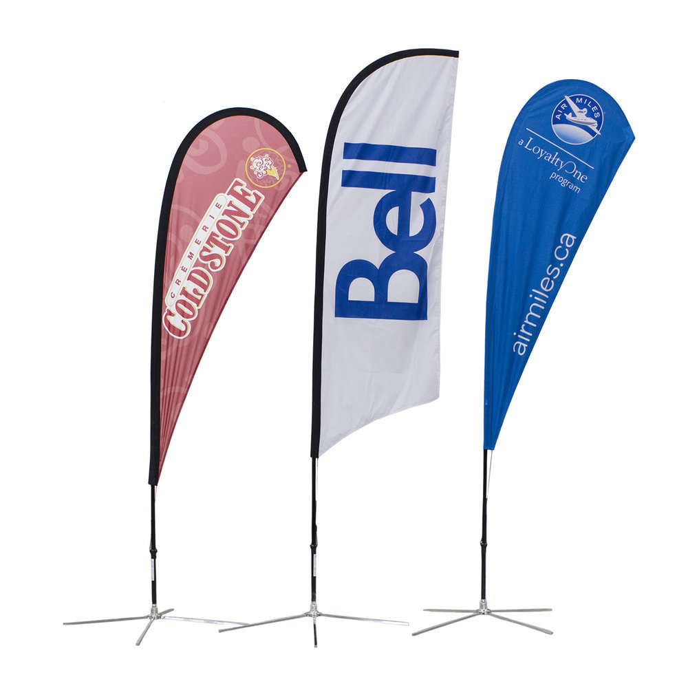 Cold Stone Bell AirMiles Soft Signs Custom Flags