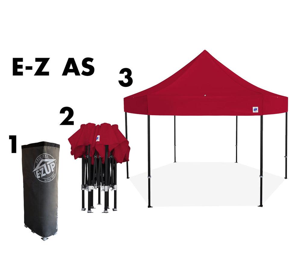 HUB™ 15' Aluminum Shelter - EZ UP Instant Shelter
